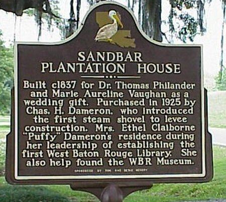 Sandbar Plantation House Historical Marker